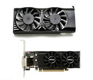 For MSI Geforce GTX 1050 GTX1050 Low Profile LP HA5510M12F-Z Fan HQ Set Cooler