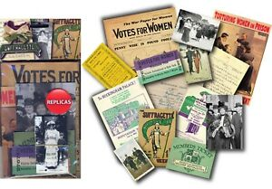 Suffragettes Memorabilia Pack, Dementia Activities