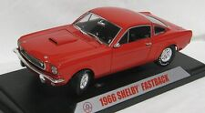 MUSTANG GT350 FASTBACK 1966 RED SHELBY COLLECTIBLES 1/18 REPLICA DIE CAST MODEL