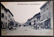 CPA. CRAPONNE. 69 - Route de Bordeaux. 1908. Épicerie. Comptoir du Commerce.