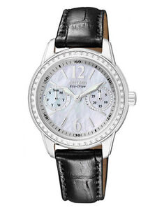 CITIZEN Eco-Drive FD1030-13D Ladies Watch Leather Band NEW RRP $495.00
