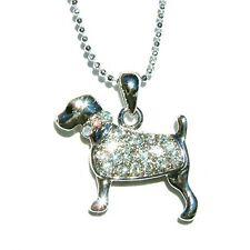 w Swarovski Crystal ~ROTTWEILER Puppy DOG Animal pet Pendant Chain Necklace Cute