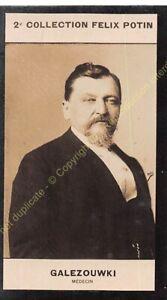 Chromo trade card Photo Ksawery Gałęzowski médecin Ophtalmologiste circa 1907