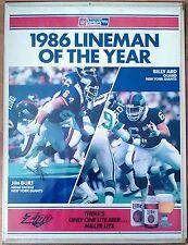 New York Giants 1986 Jim Burt / Billy Ard Autographed Poster