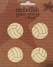 Nip Embellish Your Story Volleyball Magnets By Roeda Set of 4 Sports