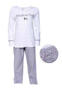 """LOUIS & LOUISA """" Schön für die Nacht """" Pyjama taupe Vichy Gr. 104  NEU"""