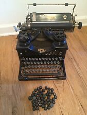 Antique Glass Panel Royal Typewriter with Glass Keys And Key Covers