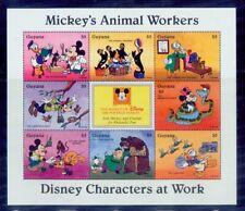 guyana/disney story- mickey animal workers/mnh.good condition