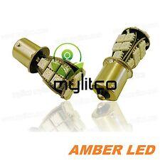 Upgrade Car LED Signal Indicator Light Bulbs 581 PY21W Amber Orange SMD Canbus