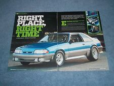 """1993 Mustang GT Grudge Drag Car Article """"Right Place, Right Time"""""""