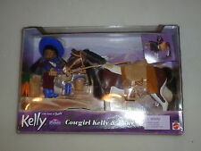 NEW SISTER OF BARBIE COWGIRL KELLY & PONY SET AFRICAN AMERICAN MATTEL 50734 2001