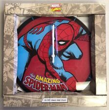 Spiderman Spider Man Analogue Glass Desk Clock Superhero Comic Birthday Gift