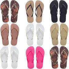 Womens Havaianas Flip Flops Slim Brazil Ladies Flip-Flops Beach Pool Sandals