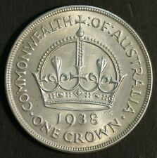 Australia 1938 Crown Uncirculated, Nice Coin