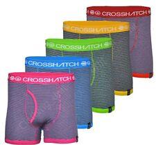 Crosshatch Cotton Blend Underwear for Men Boxer Trunks