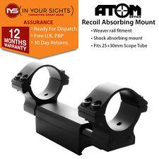 Recoil absorbing 30mm rifle scope mount / 1 piece Weaver rail scope mount