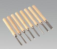 Sealey Tools Wood Turning Chisel Set 8pc