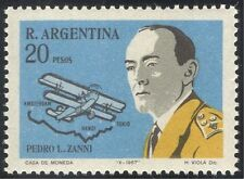 Argentina 1967 Aviation/Aircraft/Plane/Pilot/Map/Transport/People 1v (n24220)