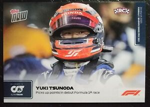 2021 Topps Now! F1 Trading Card #3  YUKI TSUNODA - Picks Up Points In Debut RC
