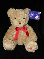 HAMLEYS BROWN BEAR SOFT TOY RED RIBBON TEDDY COMFORTER DOUDOU WITH TAGS