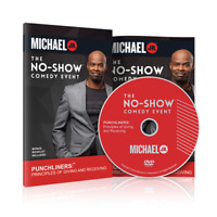 No Show Comedy Event with Michael Jr (DVD, Bonus Booklet Included, NEW)