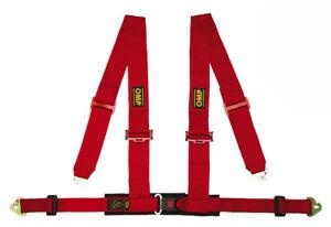 OMP Racing 4, 4-Punkt ECE Sicherheitsgurt, DA508, rot, raceparts cc