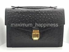 SALE - VALENTINO GARAVANI VINTAGE OSTRICH TOP HANDLE CLUTCH BAG - AUTHENTIC