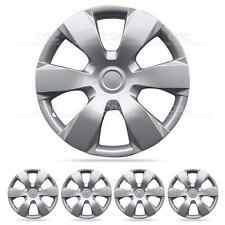 4 Piece Set of 16 inch Silver Snap-On Hub Caps Full lug Skin Cover OEM Wheel