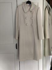 Precioso Abrigo Vestido Blanco Talla 14
