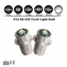 2x 3W Cree XPG P13.5S Led Flashlight Replacement bulb 3.5-14V Lantern Work Light