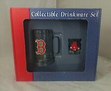 Boston Red Sox Beer Mug World Series Collectible Drinkware Set Shotglass