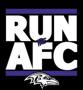 Baltimore Ravens RUN the AFC shirt NFL Playoffs Superbowl Super Bowl t-shirt