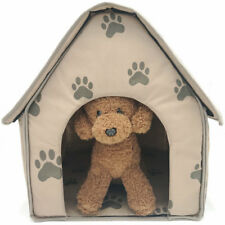Pet Dog Puppy Soft Bed House Indoor Small Collapsible Portable Fiber Material