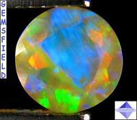 VVS - 0.92ct ! OPALE IRIDESCENTE d'ETHIOPIE ! mines d'opales de WELO poli AAA++