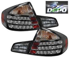 LED Tail Lights BLACK Housing by DEPO Fits 03-04 Infiniti G35 G-35 SEDAN 4D