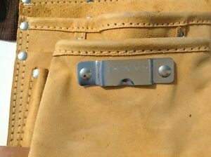 Pocket Adjustable Leather Tool Holder Belt Multi Pocket Nail Pouch yellow
