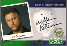 CSI SERIES 2 (STRICTLY INK 2004) WILLIAM PETERSEN GIL GRISSOM AUTOGRAPH CARD B1