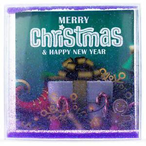 Square Clear Plastic Glitter Water Picture Frame