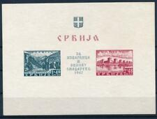 [G41403] Serbia 1941 Good imperforated sheet Fine/VF MNH Value $230