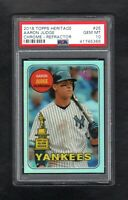 2018 Topps Heritage #25 AARON JUDGE /569 Chrome-Refractor PSA 10 GEM MINT