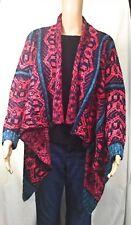 Womens Kimono Sweater Sz Small to Medium S/M Long Sleeve  Pink Red Black Blue