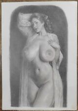 """""""DEIDRE"""": new erotic drawing by artist PHIL HENDERSON, signed"""