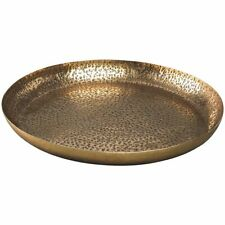 Ashley Morley Metal Decorative Tray in Antique Brass