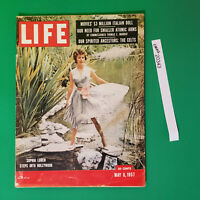 Life magazine Sophia Loren may 6 1957 Marylin Monroe Jack Kennedy into Hollywood