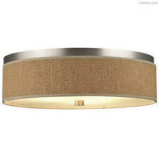 Nickel Contemporary Flush Mount