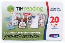 TIM READING 20 EURO AGO 2017 GRASSETTO RICARICA TELEFONICA USATA