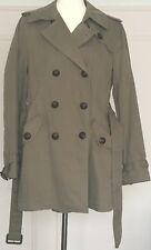 Buffalo Women's Khaki Double Breast Belt Trench/Jacket, Size L