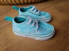 VANS BABY SHOES TRAINERS Girl Blue UK 4 / EUR 20 - VGC