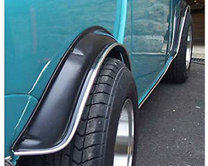 New quality flexible sill and arch trim in chrome for classic Mini, Full car set