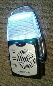 VINTAGE LANTERN TRANSISTOR RADIO ~ LED LIGHTS ~ AAA BATTERY POWERED WORKS GREAT